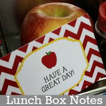 Back to School Printable Lunch Box Notes