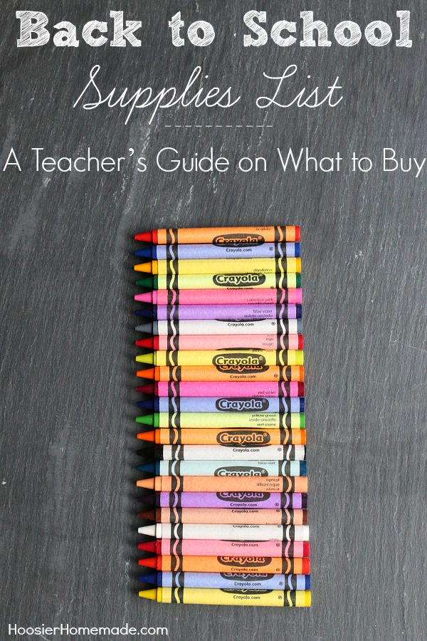 School shopping can be overwhelming! What if you knew exactly what you should and should not bother buying? This Teacher's Guide on What to Buy from Your Back to School Supplies List will help. Click on the Photo for the Details!