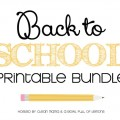 Back to School Printable Organizing Bundle | Available on HoosierHomemade.com