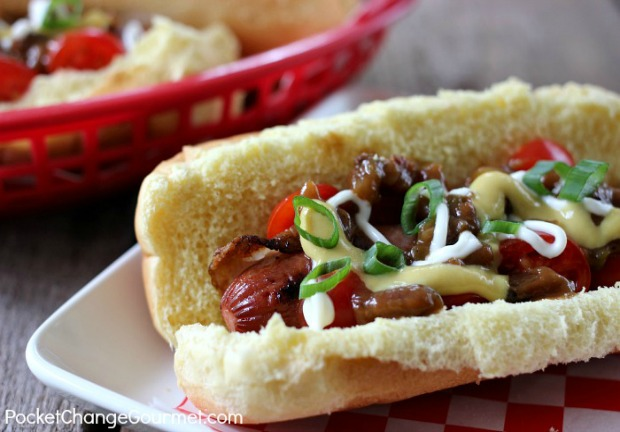 Bacon Wrapped Cowboy Hot Dogs
