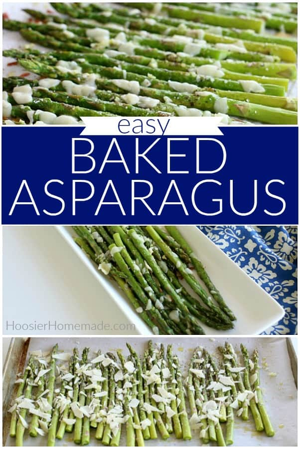 Baked Asparagus | Baked Asparagus Recipe with Garlic and Cheese