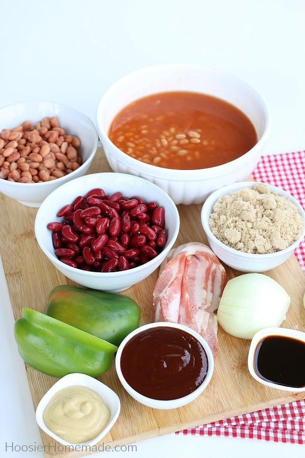 Ingredients for Baked Beans