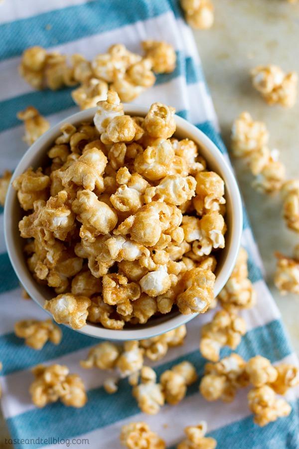 Baked Caramel Popcorn - Taste and Tell