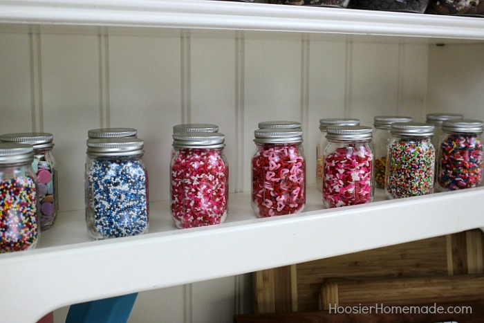 BAKING CABINET ORGANIZATION -- In minutes you can have your baking supplies organized and your finger tips ready to use!