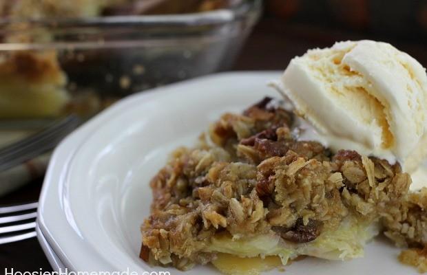 Banana Bread Cobbler | Recipe on HoosierHomemade.com
