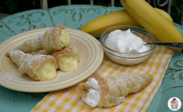 Banana Cream Horns