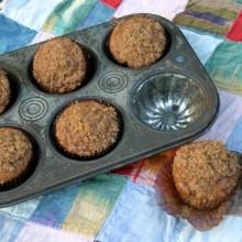 Banana Crumb Muffins Recipe :: HoosierHomemade.com