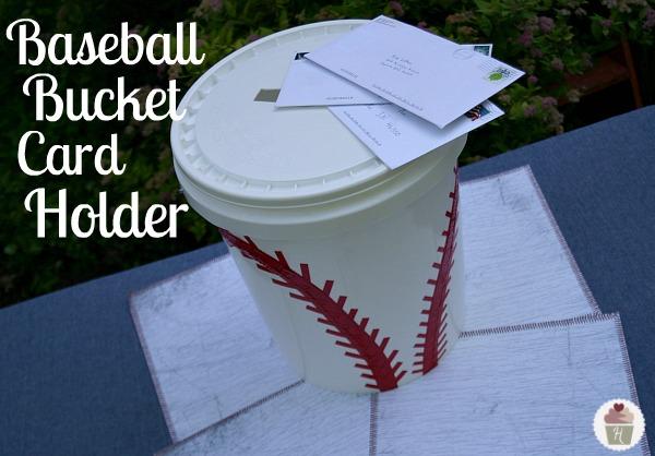 Baseball Bucket Card Holder Hoosier Homemade