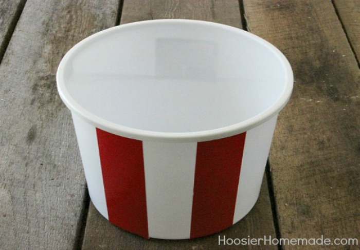 Sports Themed Gift Bucket