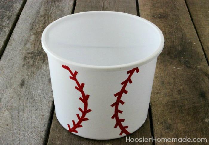Sports Themed Gift Bucket