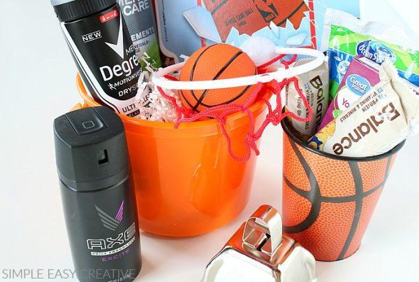 sports gift basket