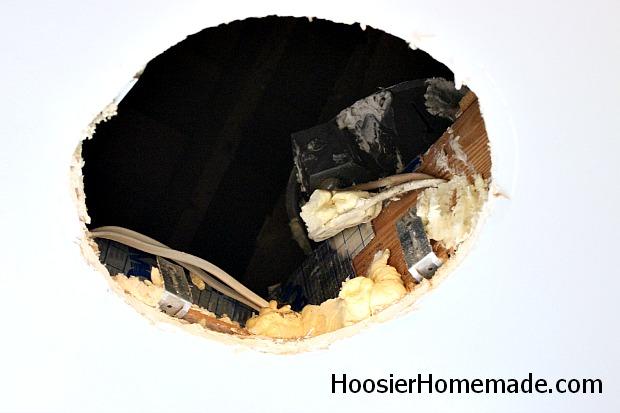 Bathroom Fan Big Hole