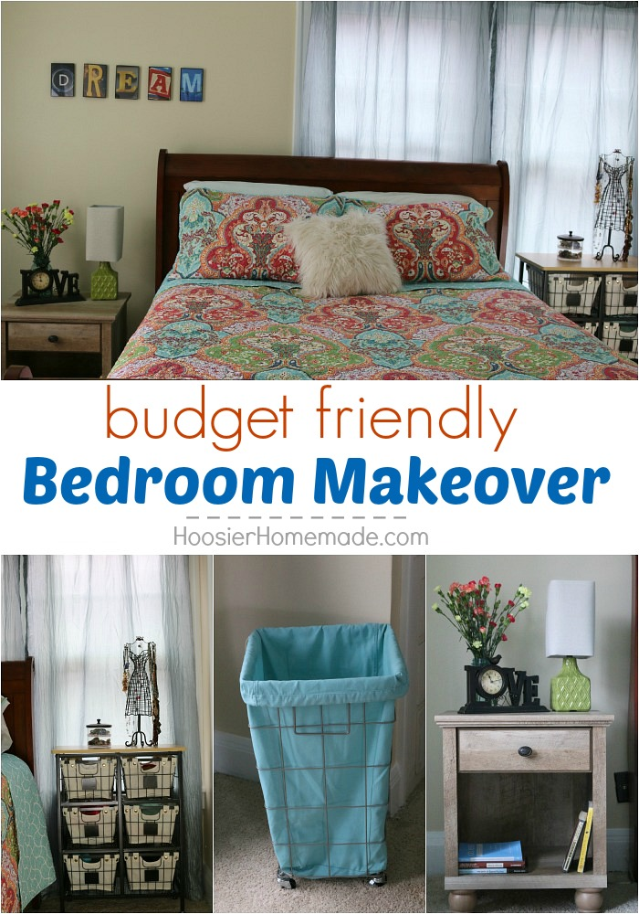 Transform your bedroom into a sanctuary! This Bedroom Makeover will blow your socks off! And it's all done on a budget! Pin to your Decorating Board!