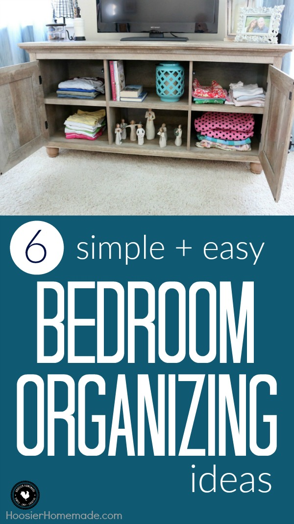 It's time to turn the chaos in your bedroom into a sanctuary! These 6 simple + easy Bedroom Organizing Ideas will save the day! And probably a little sleep too!