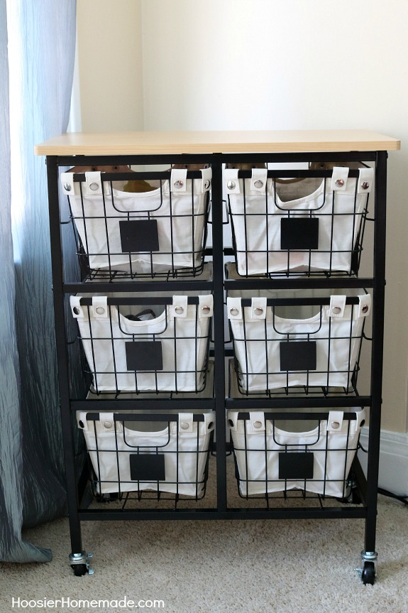And for added storage  the Better Homes and Gardens 6 Drawer Black Wire  Cart works great in the corner  Rustic Bedroom Makeover. Rustic Bedroom Makeover   Hoosier Homemade
