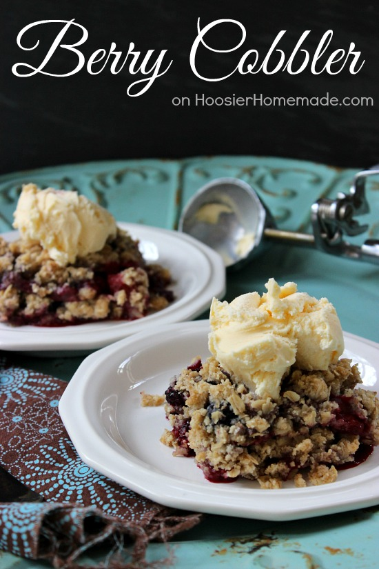 Simple Berry Cobbler | Recipe on HoosierHomemade.com