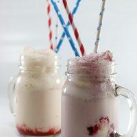 Berry Ice Cream Floats