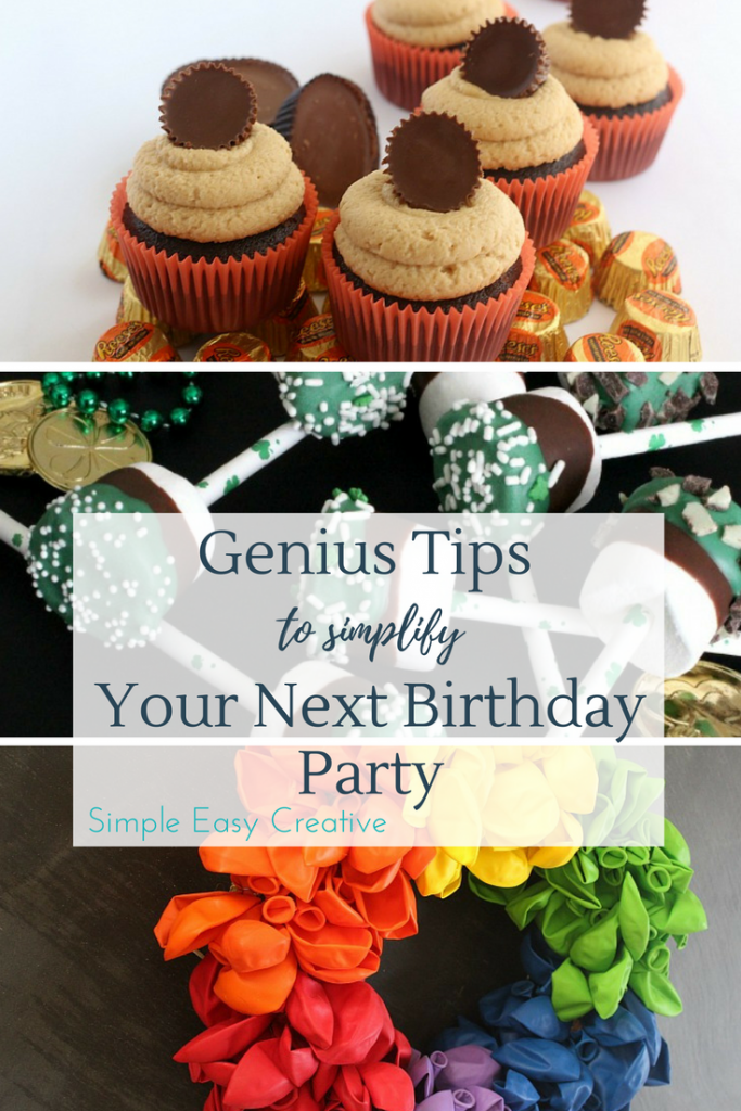 The Best Birthday Party Tips for a simple, easy and creative birthday party.