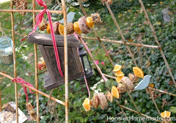 Vintage Recycled Bird Feeding Station Hoosierhomemade