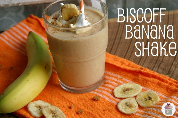Biscoff Banana Milk Shake - Hoosier Homemade
