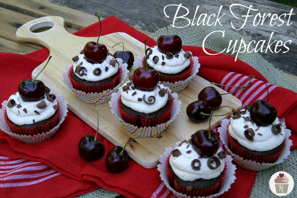Black Forest Cupcakes Made With Cake Mix