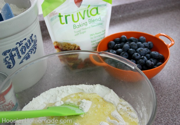 Light Blueberry Muffins | Recipe on HoosierHomemade.com