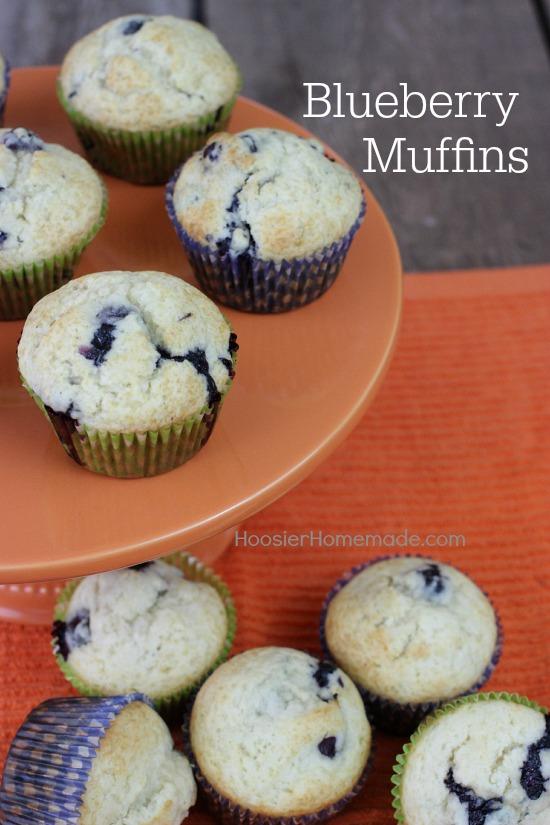Blueberry Muffins | Recipe on HoosierHomemade.com