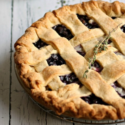 Blueberry Pie with Lemon and Thyme