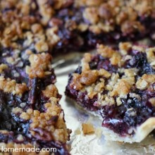 Blueberry Slab Pie | Recipe on HoosierHomemade.com