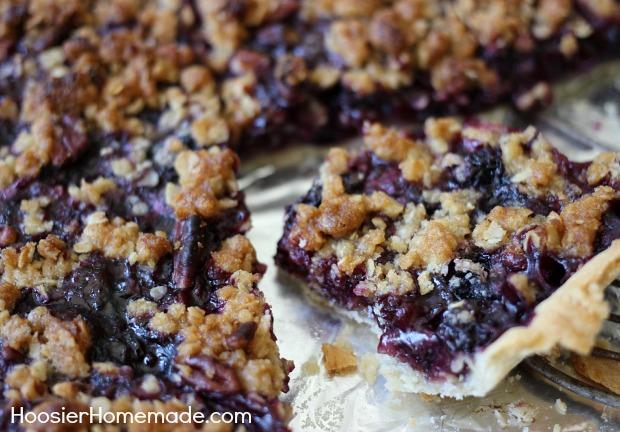 Blueberry Slab Pie | Recipe on HoosierHomemade.com