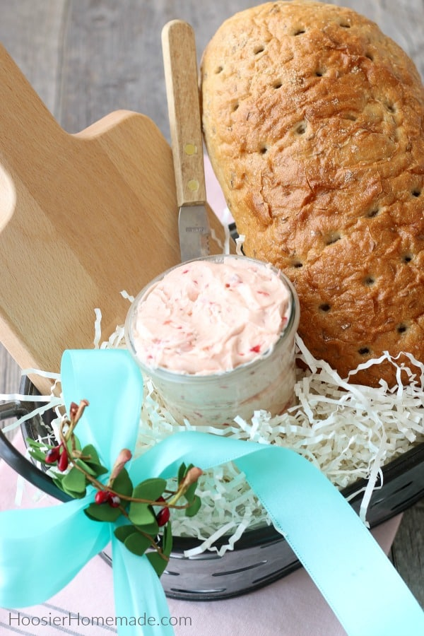 Bread and Strawberry Butter in Basket