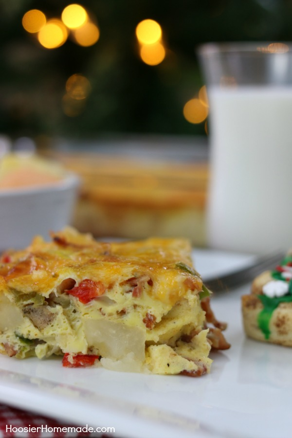 BREAKFAST CASSEROLE -- This easy to make breakfast casserole is perfect for holiday mornings, yet easy enough for everyday!