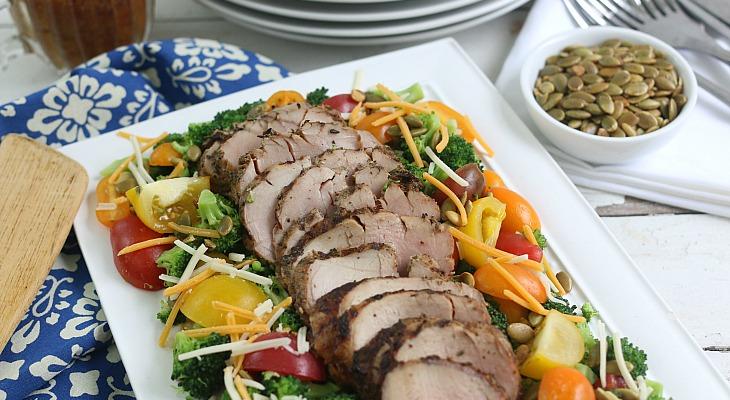 Broccoli-Tomato-Salad-with-Pork-Tenderloin.FEATURE