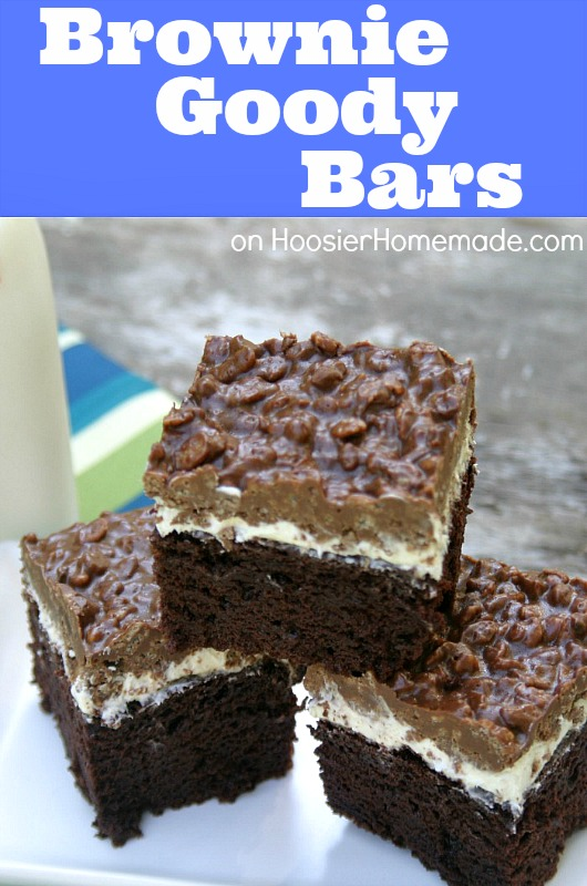 Brownie Goody Bars :: Recipe on HoosierHomemade.com