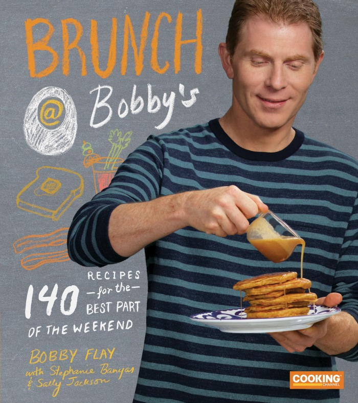 Bobby Flay shares 140 brunch recipes in his new cookbook! Grab the recipe for Carrot Cake Pancakes -- a must make!