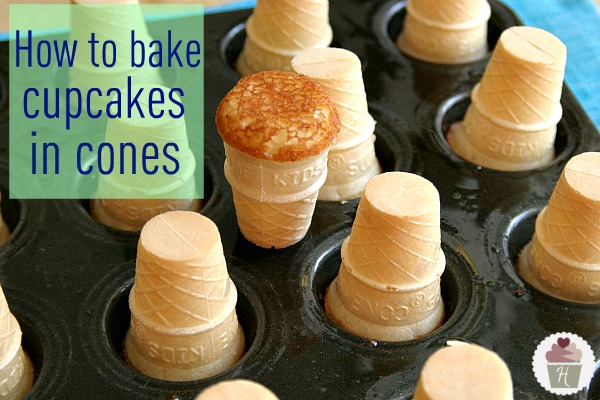 Cupcake Cones With Cake Mix