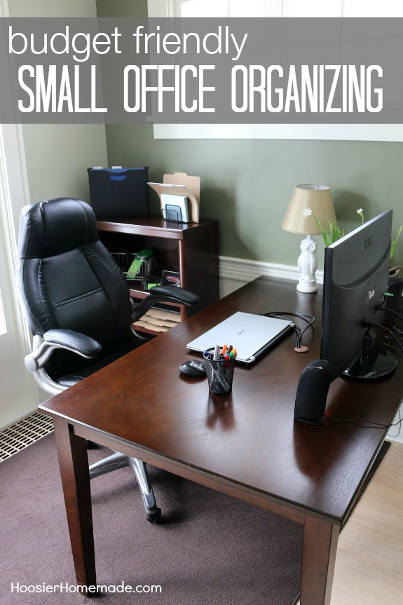 These Budget Friendly Tips on Organizing your Home Office for UNDER $250 just might surprise you! Pin to your Organizing Board!