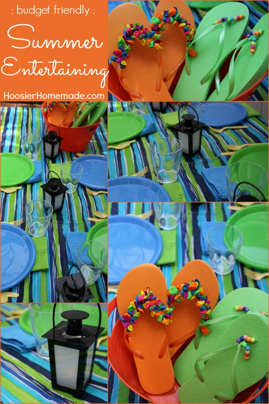 Budget Friendly Summer Entertaining | Details on HoosierHomemade.com