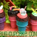 Bug Cupcake Cones for Earth Day :: Recipe on HoosierHomemade.com