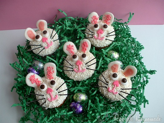 Easy easter bunny cupcake recipes