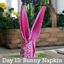 Bunny Napkin.Day13