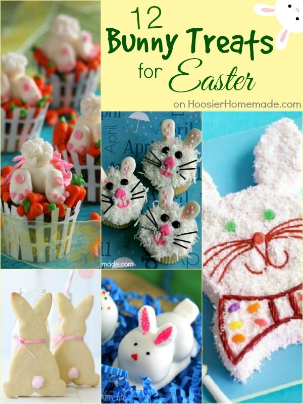 12 Bunny Treats for Easter | on HoosierHomemade.com