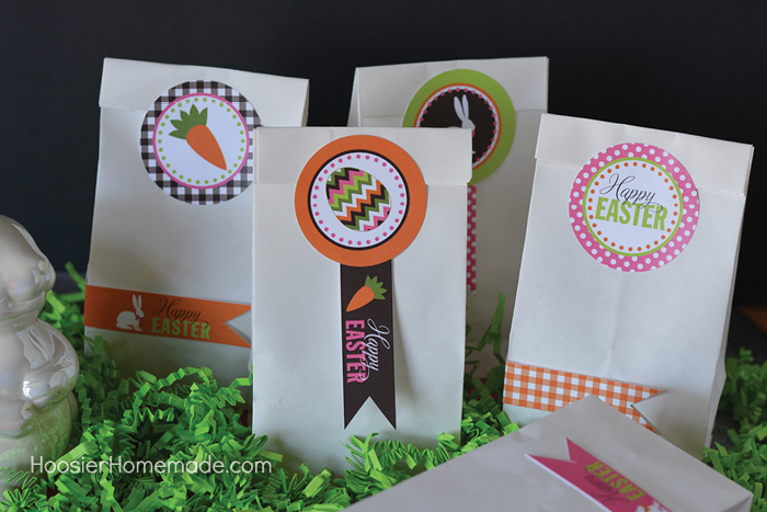 Gift bags with Free Easter Printables