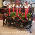 Christmas Centerpiece : 100 Days of Homemade Holiday Inspiration on HoosierHomemade.com