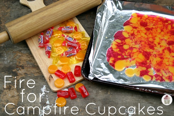 Cake Decorating How To Make Fire : Campfire Cupcakes: S Mores with Marshmallow Buttercream ...