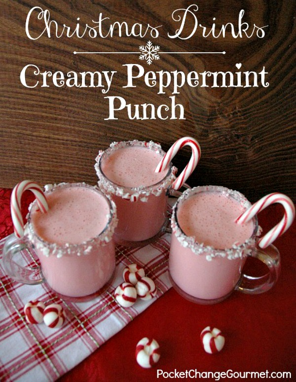 Whip up this delicious Peppermint Punch with just 3 ingredients - Egg Nog, Peppermint Ice Cream and Club Soda! Perfect for all your holiday parties! Pin to your Recipe Board!