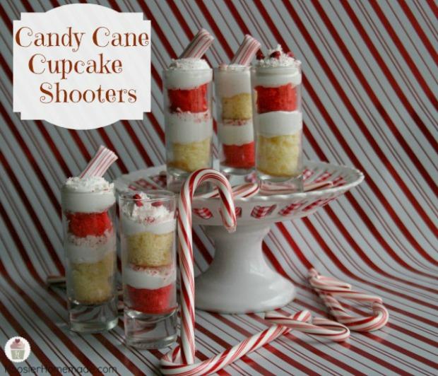 Candy Cane Cupcake Shooters on HoosierHomemade.com