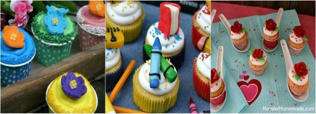 Candy Clay Cupcakes on HoosierHomemade.com