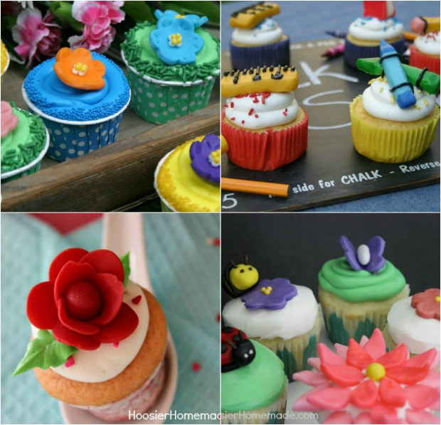 Cupcakes made with Candy Clay | Recipes on HoosierHomemade.com