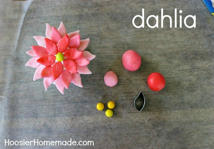 How to make a Dahlia using Candy Clay